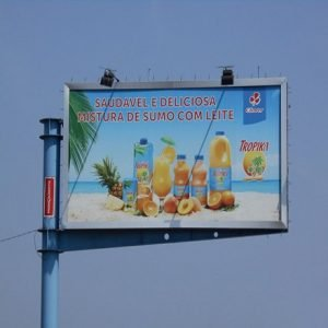 Off-Center Unipole Advertising Billboard