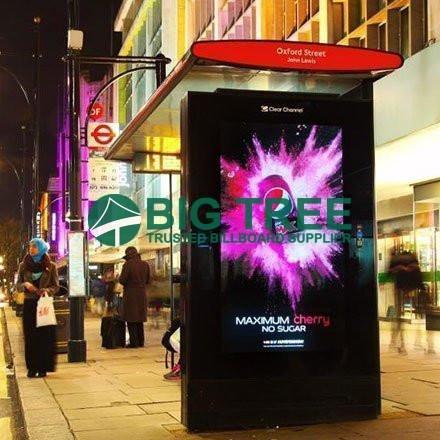 the new light box bus shelter Street furniture
