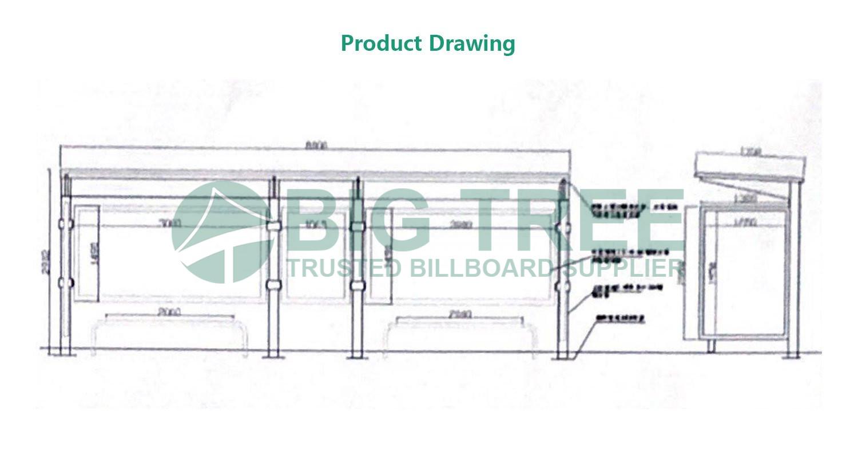 Smart bus shelter steel structure manufacturer