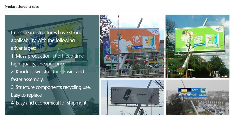 Creative Slant Column Billboard characteristics
