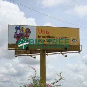 Unipole-Billboard outdoor advertisement