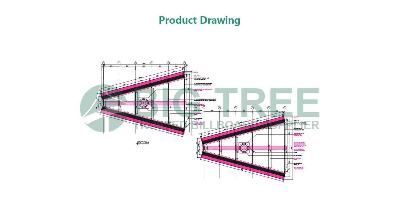 V-Shaped-Advertising-Unipole-Billboard drawing