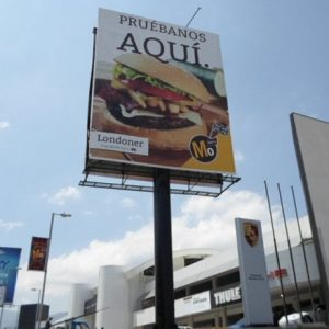 Vertical Unipole Billboardoutdoor advertisement