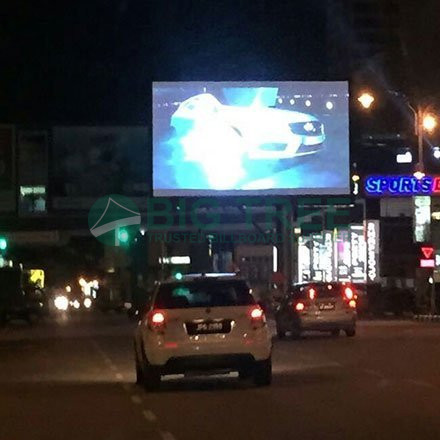 Outdoor Digital LED Screen Advertising Unipole Display