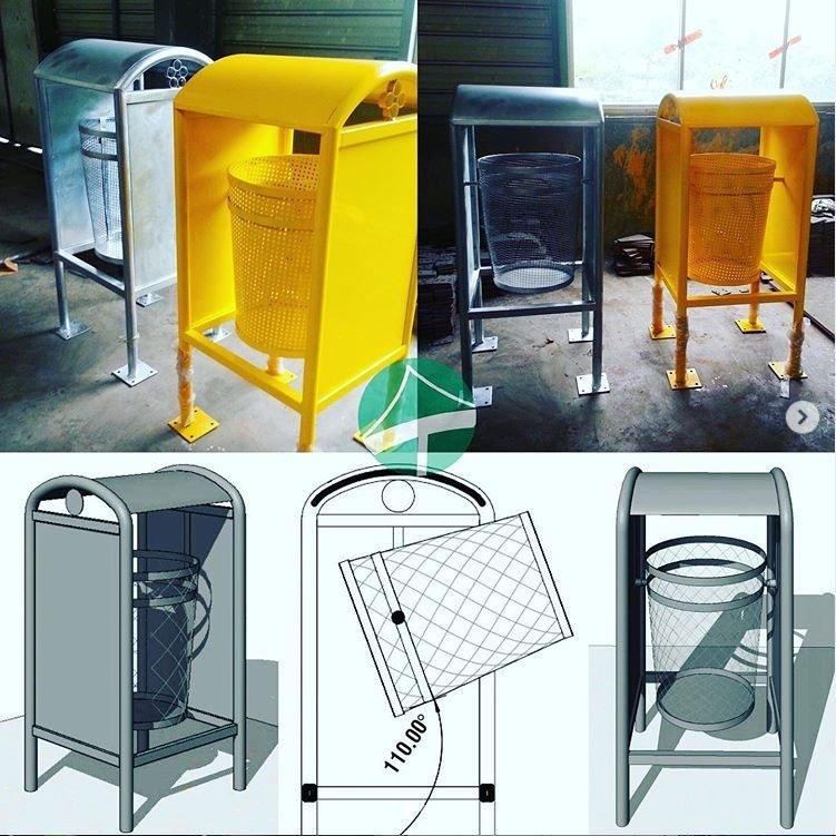 Trashbin smallest steel structures