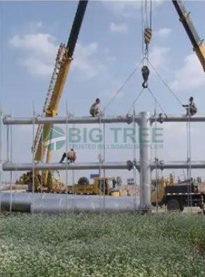 outdoor billboards Strucutre assembly