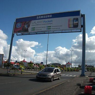 Highway Gantry Outdoor Advertising Display Bilboard Structure