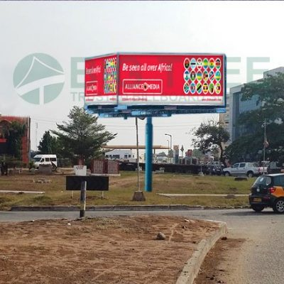 Four-sided-Outdoor-billboard-Outdoor advertisement examples