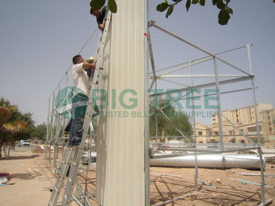 unipole billboard installation-900x675a