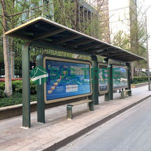 outdoor street bus stop shelter for sale with mupi advertising display-1