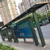 outdoor street bus stop shelter for sale with mupi advertising display-3