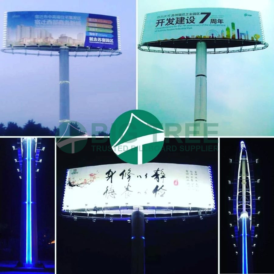 How much does it cost to build a billboard-steel monopole structure-2