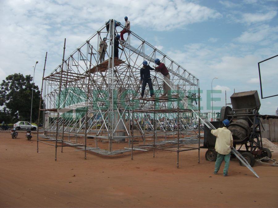 How to build a billboard-6mx20m three sided billboard-Spatial grid structure