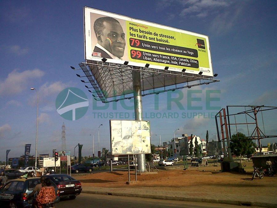 How to build a billboard-6mx20m three sided billboard