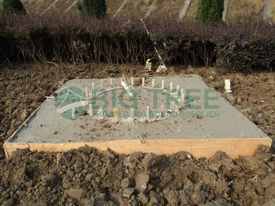 How to build a billboard-Billboard foundation construction-Monitor the concrete pour